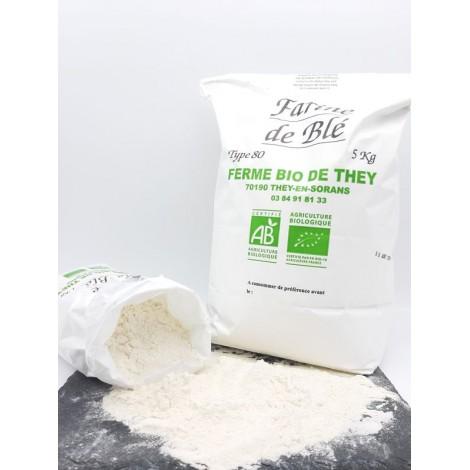 Farine de blé BIO 5 kg  : T 80